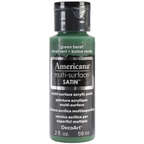 Deco Art Green Beret Americana Multi-Surface Satin Acrylic Paint