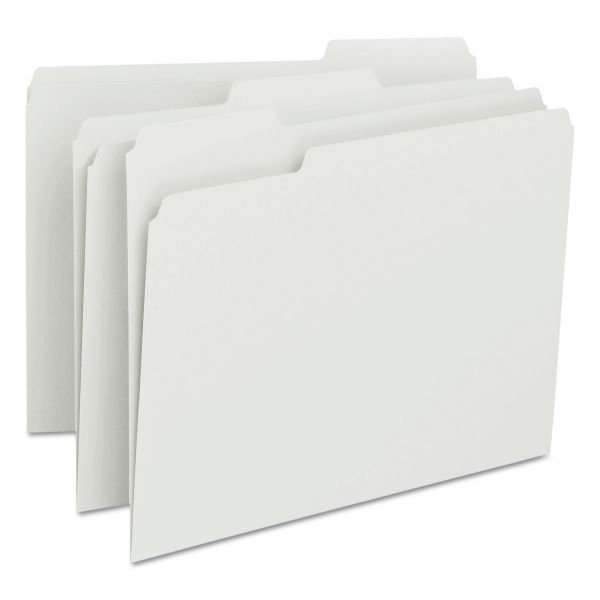 Smead File Folders, 1/3 Cut Top Tab, Letter, White, 100/Box