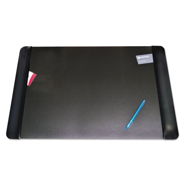 Artistic Executive Desk Pad with Leather-Like Side Panels, 36 x 20, Black