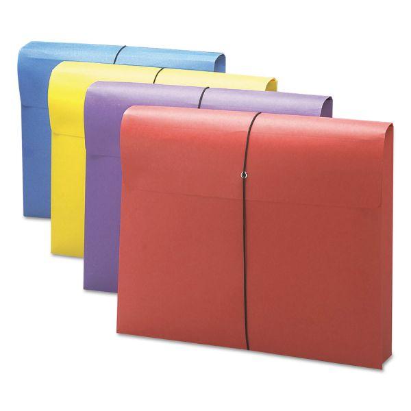 "Smead 2"" Exp Antimicrobial File Wallet, Letter, Four Colors, 4/Pack"