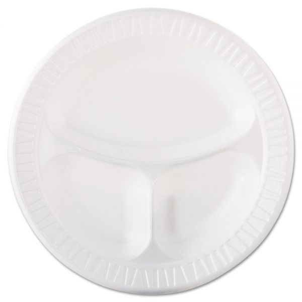 "Dart 10.25"" Plastic Compartment Plates"