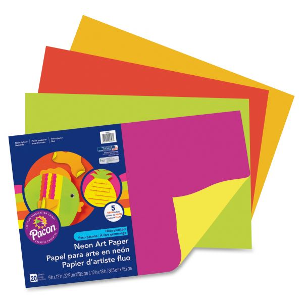Pacon Art Street Neon Construction Paper