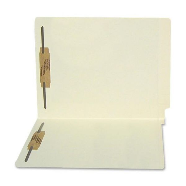 SJ Paper Water Resistant End-Tab File Folders with Fasteners