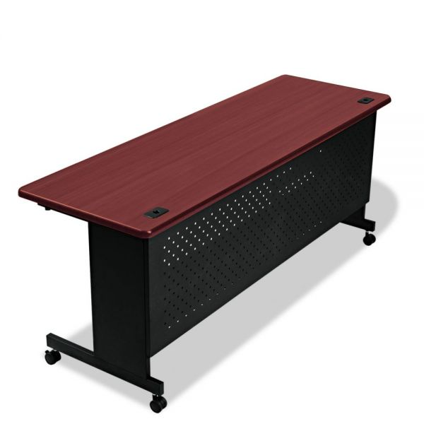 BALT Agility Series Rectangular Table, 72w x 24d x 29-1/2h, Mahogany/Black