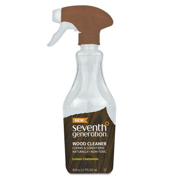 Seventh Generation Natural Wood Cleaner, Lemon Chamomile, 18 oz Spray Bottle