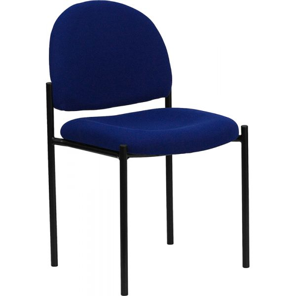 Flash Furniture Navy Fabric Comfortable Stackable Steel Side Chair