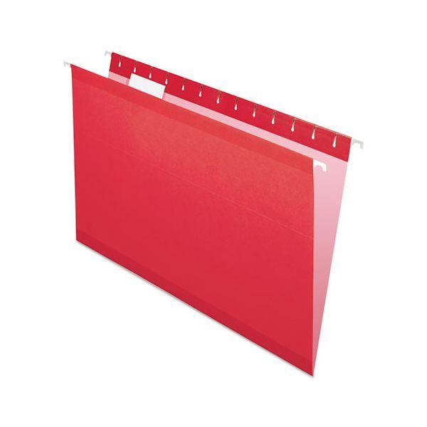 Pendaflex Reinforced Hanging Folders, 1/5 Tab, Legal, Red, 25/Box
