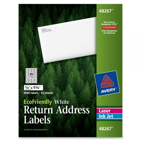Avery EcoFriendly Return Address Labels