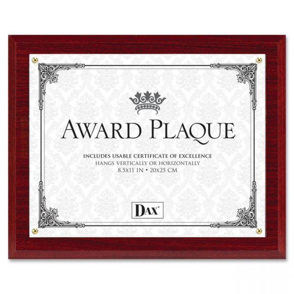 DAX Mahogany Wall Award Plaque