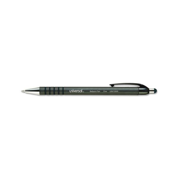 Retractable Ballpoint Pen, Black Ink, Fine, Dozen