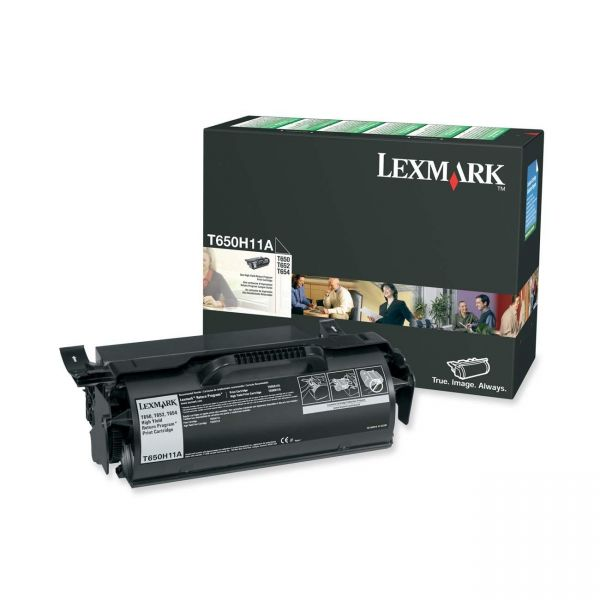 Lexmark T650H11A Black High Yield Return Program Toner Cartridge