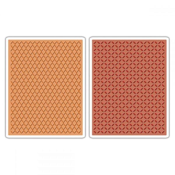 Sizzix Texture Fades A2 Embossing Folders 2/Pkg