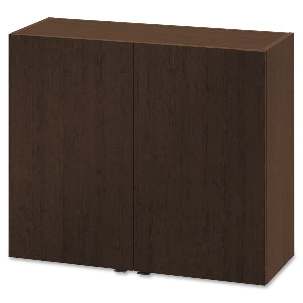 HON Hospitality Wall Cabinet, Two Doors, 36w x 14d x 30h, Mocha