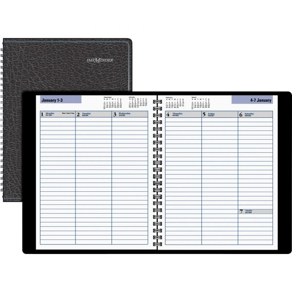 AT-A-GLANCE DayMinder Weekly Planner, 6 7/8 x 8 3/4, Black, 2019