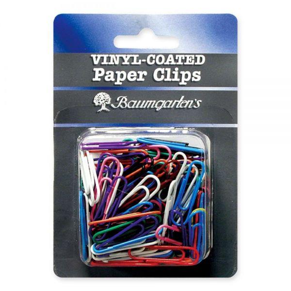 Baumgartens Jumbo Vinyl-Coated Paper Clips