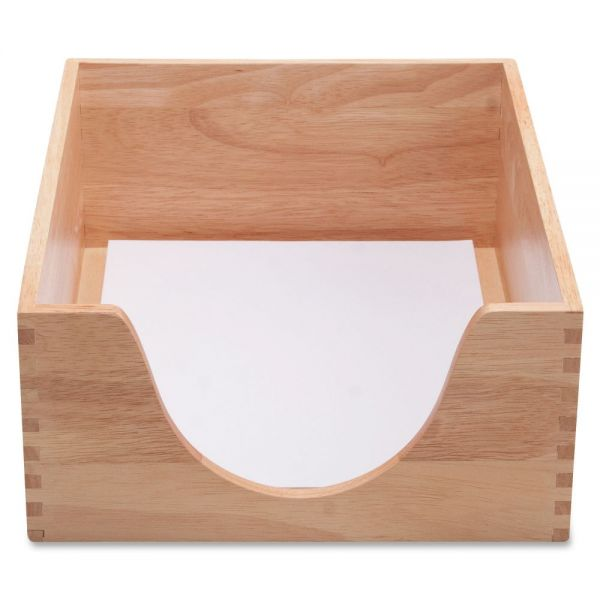 Carver Double Deep Wood Desk Trays