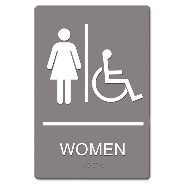 "Headline Signs Wheelchari Accessible ""Women"" Restroom Sign"