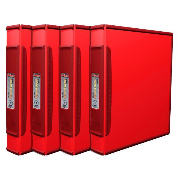 """Storex 1"""" DuraGrip Binder - Red (Case of 4)"""