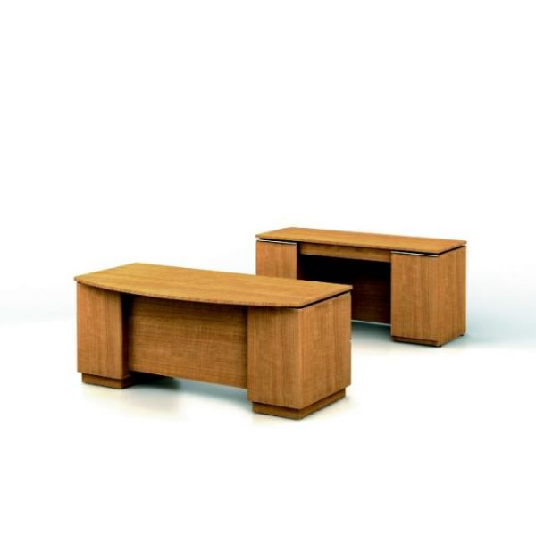 Bush Furniture Milano Executive Configuration - Golden Anigre finish