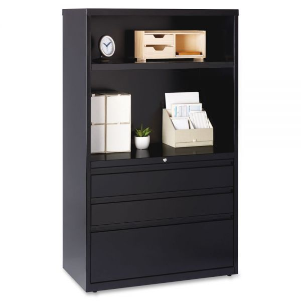 Lorell 3 Drawer Lateral File Cabinet Combo Unit