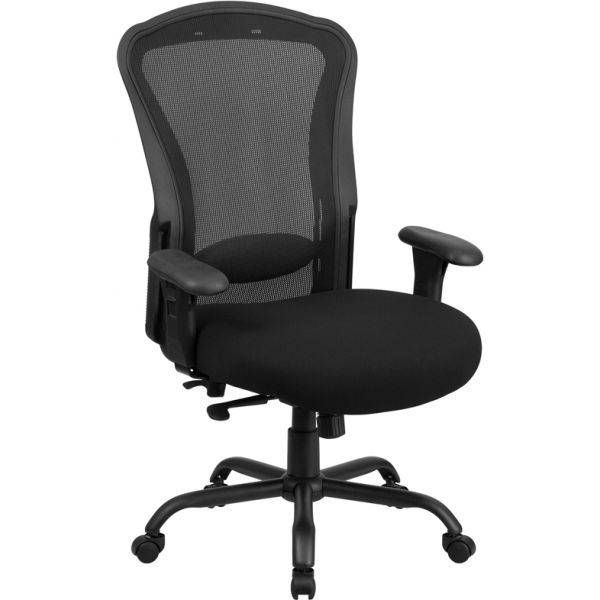 Flash Furniture Big & Tall Mesh Multi-Functional Swivel Chair [LQ-3-BK-GG]