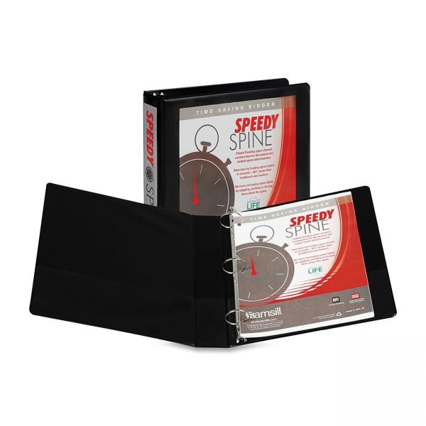 "Samsill Speedy Spine 1 1/2"" 3-Ring View Binder"