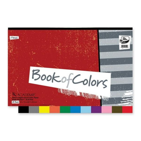 Mead Academie Book of Colors Heavyweight Construction Paper