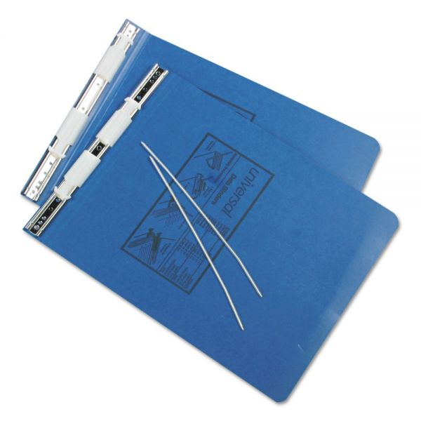 Universal Pressboard Hanging Data Binder, 9-1/2 x 11, Unburst Sheets, Blue