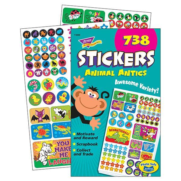 Trend Animal Antics Sticker Pad