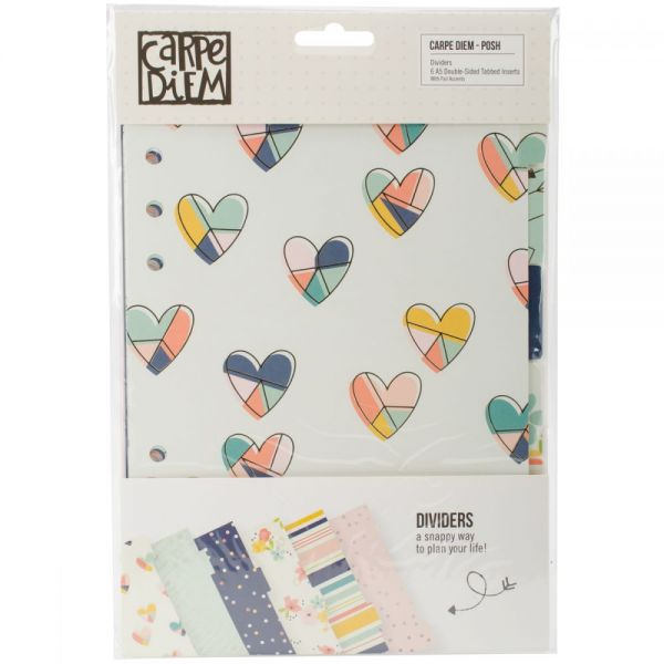 Posh Double-Sided Dividers A5 6/Pkg