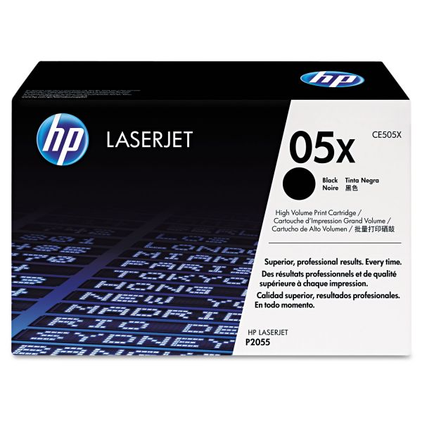 HP 05X Black High Yield Toner Cartridge (CE505X)