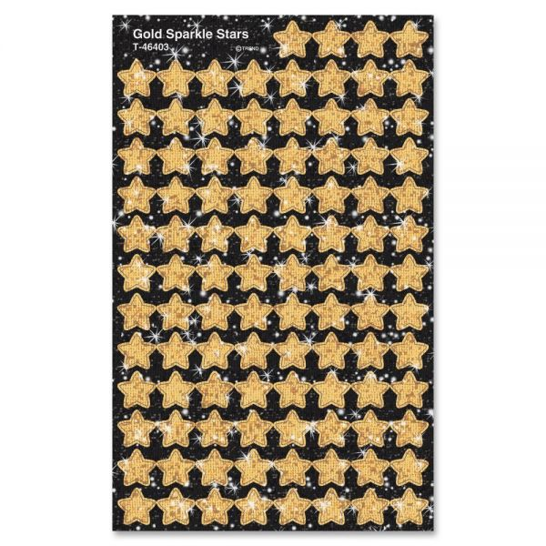 Trend Sparkle Gold Stars superShapes Stickers
