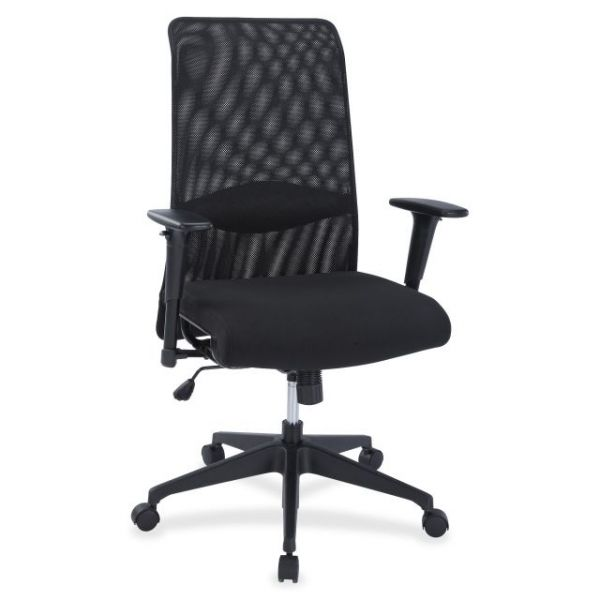 Lorell Synchro-Tilt Mesh Back Suspension Office Chair