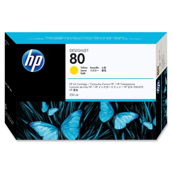 HP 80 Yellow Ink Cartridge (C4848A)