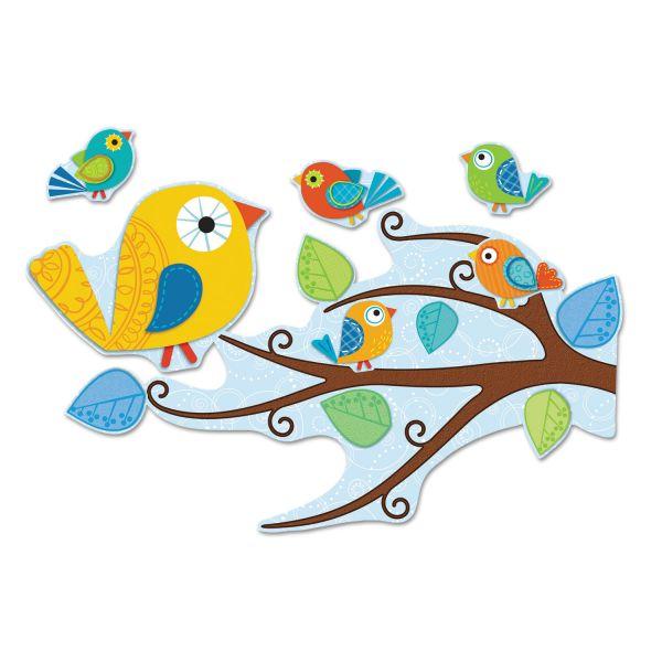 Carson Dellosa Boho Birds Bulletin Board Set