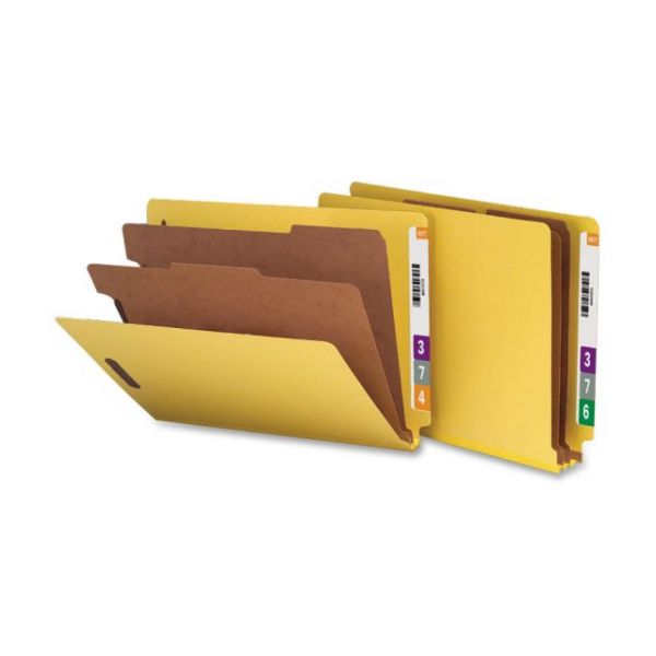 Nature Saver End Tab Yellow Classification Folders
