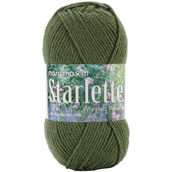Mary Maxim Starlette Yarn - Deep Green