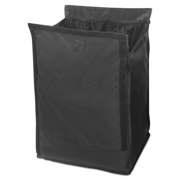 Rubbermaid Commercial Executive Quick Cart Liner, Small, 12 4/5 x 16 x 14 1/2, Black