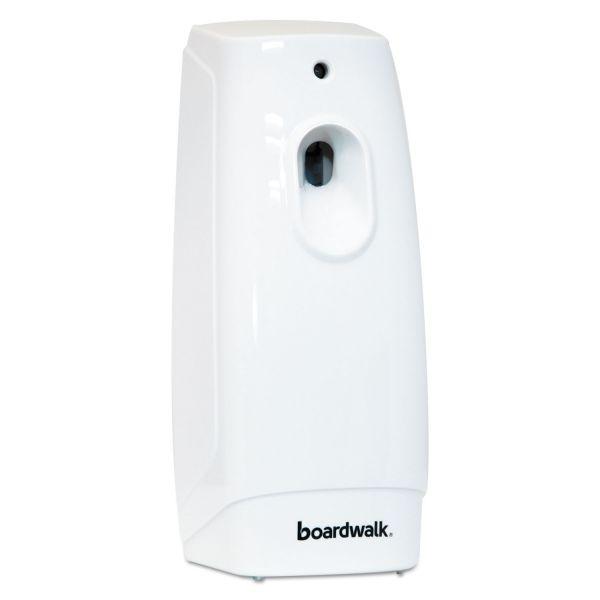 Boardwalk Classic Metered Air Freshener Dispenser, 4w x 3d x 9 1/2h, White
