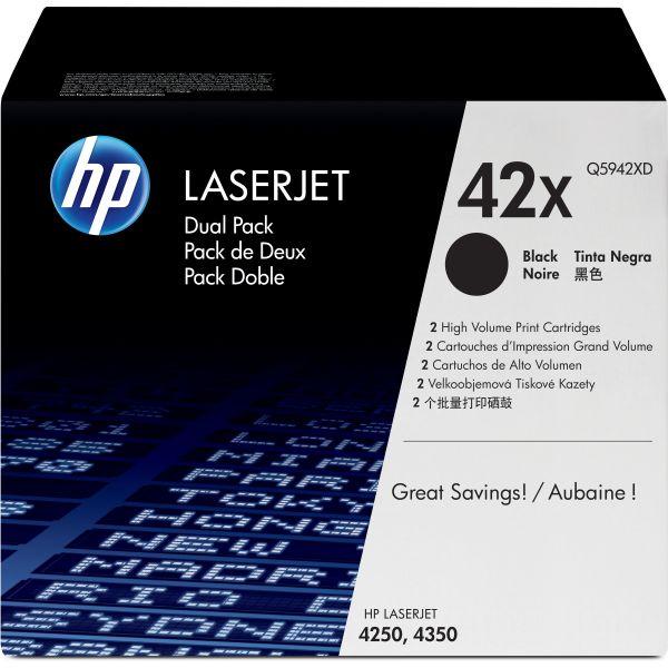 HP 42X Black High Yield Toner Cartridges (Q5942XD)