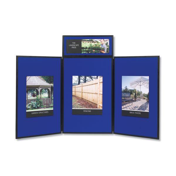 Quartet Show-It! 3-Panel Display System