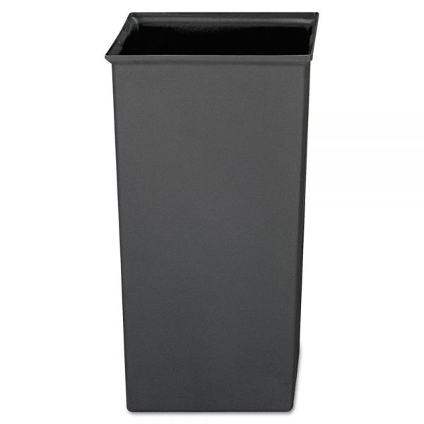 Rubbermaid Commercial Rigid Liner, Square, Plastic, 24 2/3 gal, Gray