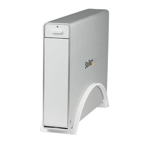 "StarTech.com USB 3.0 Trayless External 3.5"" SATA III HDD Enclosure w/ UASP - White"