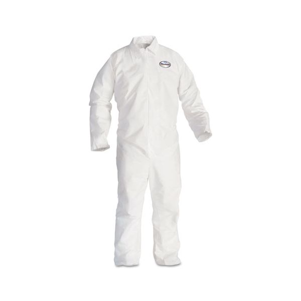 KleenGuard* A20 Breathable Particle Protection Coveralls, 3X-Large, White, 20/Carton