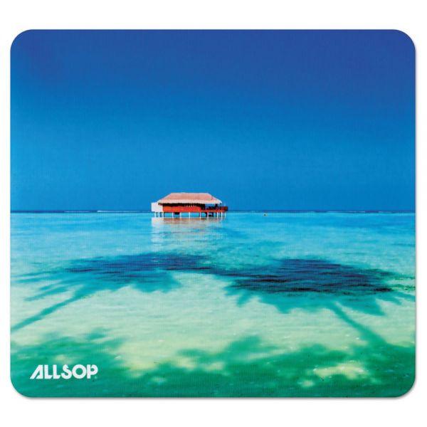 Allsop Naturesmart Mouse Pad, Tropical Maldive, 8 1/2 x 8 x 1/10