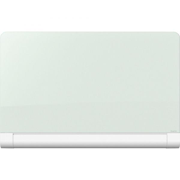 "Quartet 39"" x 22"" Horizon Magnetic White Glass Dry Erase Whiteboard with Hidden Tray"