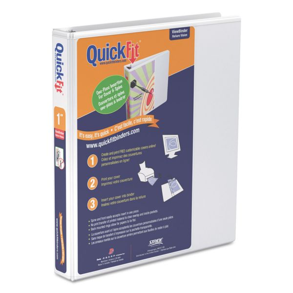 "Stride QuickFit Unique Design 1"" 3-Ring Binder"