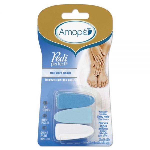 AMOPE Pedi Perfect Electronic Nail Care System Refill, Blue/White, 24/Carton