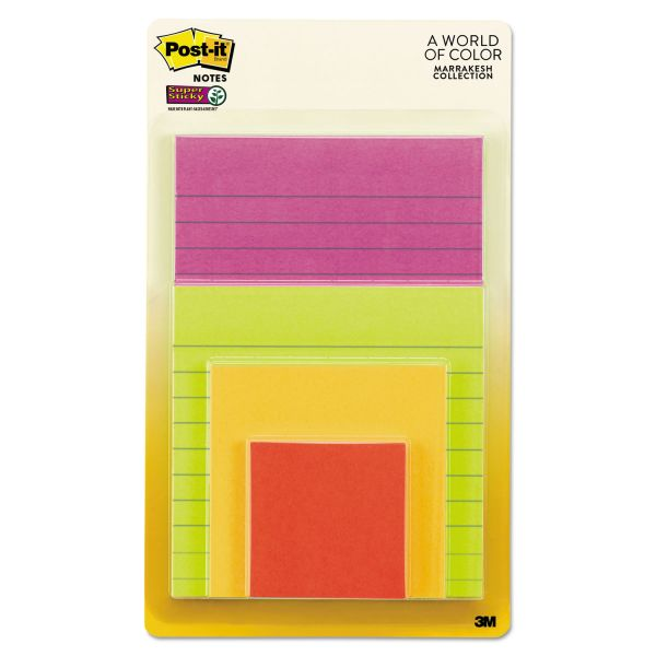 Post-it Ruled & Plain Super Sticky Notes