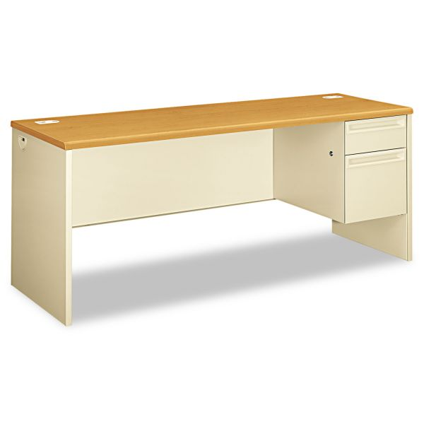"HON 38000 Series Right Pedestal Credenza | 1 Box / 1 File Drawer | 72""W"